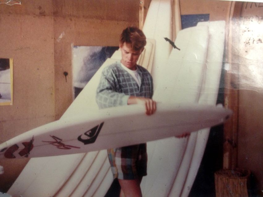 Chappy Jennings, first Pro-surfer riding a STARK SURFBOARDS in the early 80's !!